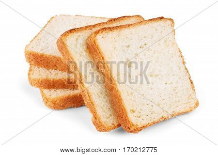 sliced bread isolated on white background nutritious, carbohydrate, fresh, product