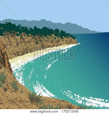 Landscape of Point Dume Natural Preserve, USA