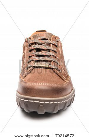 Men Brown Shoes Hiking Boot front view