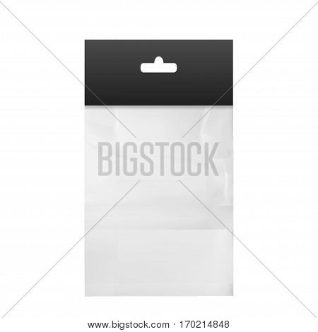 Empty Transparent Plastic Pocket Bags .isolated on white background
