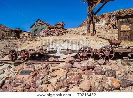 OCTOBER 14, 2015, Calico ,CA, USA: Calico,A ghost town in San Bernardino County, California, founded in 18 century,  a county park now/