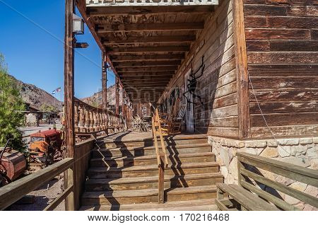 OCTOBER, 14, 2015, Calico, CA, USA: Calico, a ghost town in California, county park now/