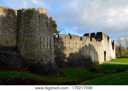 Desmond Castle's thick castle walls surrounding Ireland.