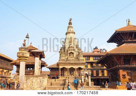 Bhaktapur Durbar Square Undamaged Vatsala Durga H