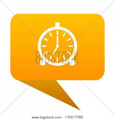alarm orange bulb web icon isolated.