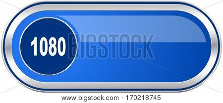 1080 long blue web and mobile apps banner isolated on white background.