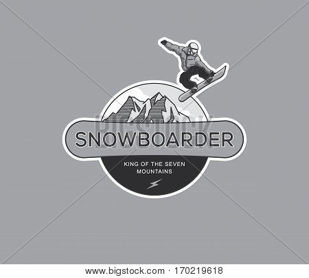 Vector winter sport snowboarding extreme school concept