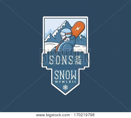 Vector winter sport sons of the snow concept