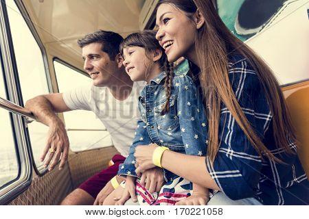Family Holiday Vacation Amusement Park Ferris Wheel