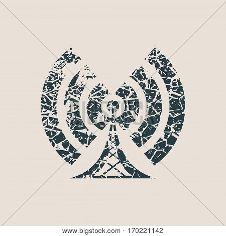 Wi Fi Symbol icon. Mobile gadgets technology relative image. Grunge style vector illustration