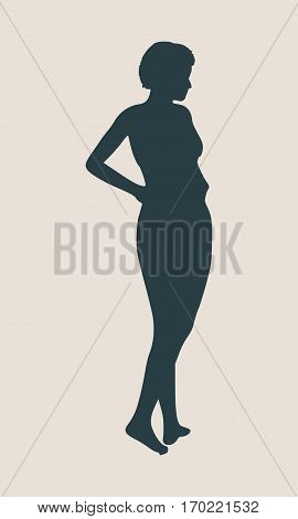 Sexy women silhouette. Fashion mannequin. Vector Illustration
