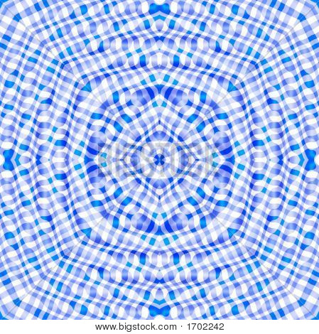Blue color kaleidoscopic pattern abstract background image. poster