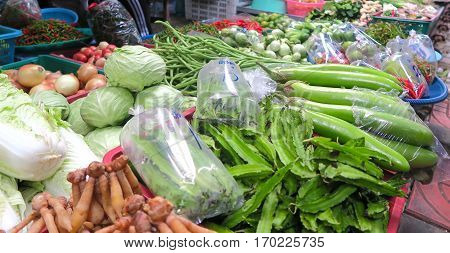 vegetables at the marketplace in Bangkok, Thailand