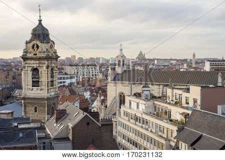 clock tower in Brussels