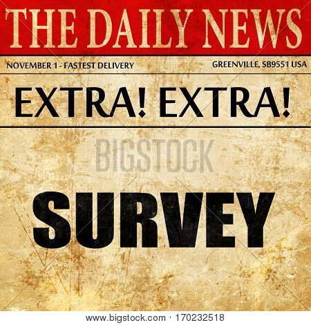 survey, newspaper article text