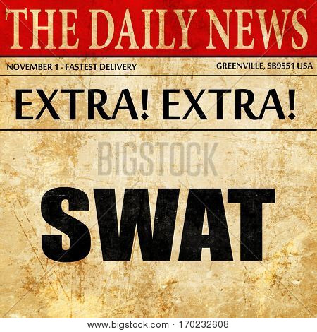 swat, newspaper article text