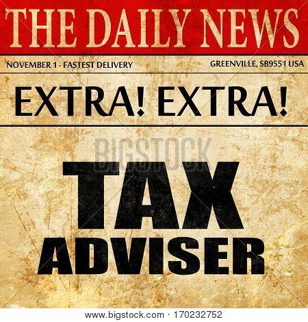 tax adviser, newspaper article text
