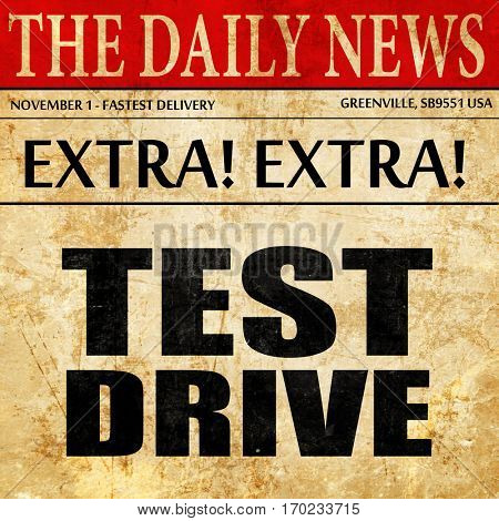 test drive, newspaper article text