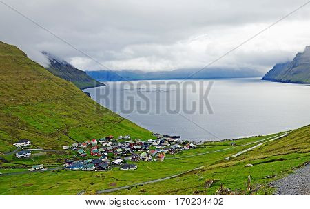 Village of Funningur on the Faroe Islands