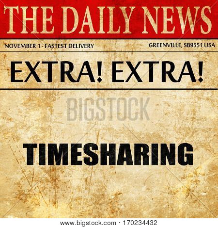 timesharing, newspaper article text