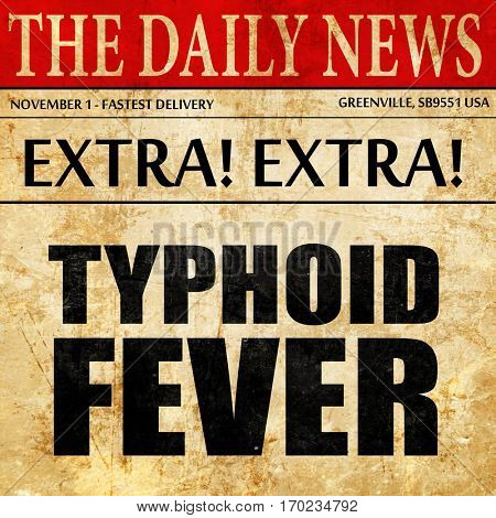 typhoid fever, newspaper article text