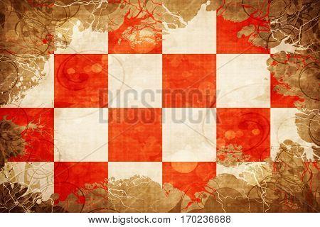 Vintage North Brabant, noord brabant flag with grunge effect