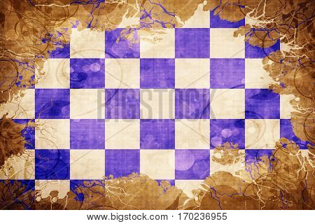 Vintage chequered golf flag flag with grunge effect