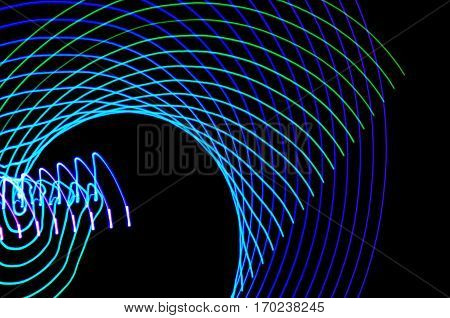 Light Painting. Abstract, Futuristic, Colorful Long Exposure, Black Background-23