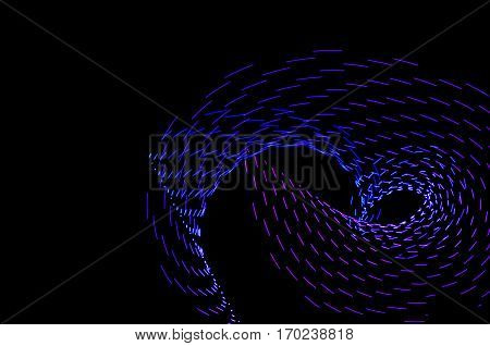 Light Painting. Abstract, Futuristic, Colorful Long Exposure, Black Background-40