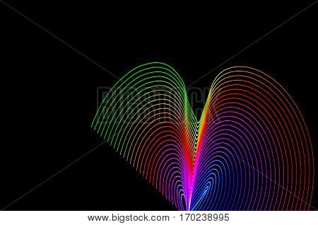 Light Painting. Abstract, Futuristic, Colorful Long Exposure, Black Background-45