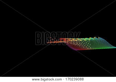 Light Painting. Abstract, Futuristic, Colorful Long Exposure, Black Background-48