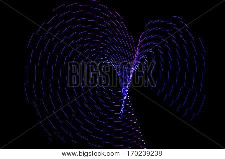 Light Painting. Abstract, Futuristic, Colorful Long Exposure, Black Background-52