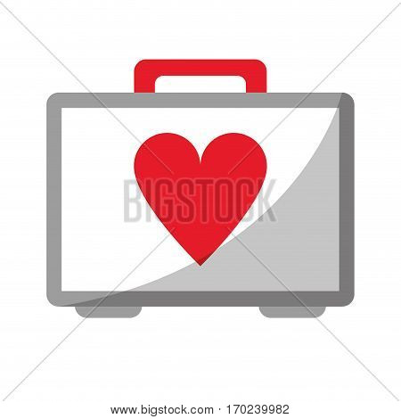 first aid kit emergency heart care vector illustration eps 10