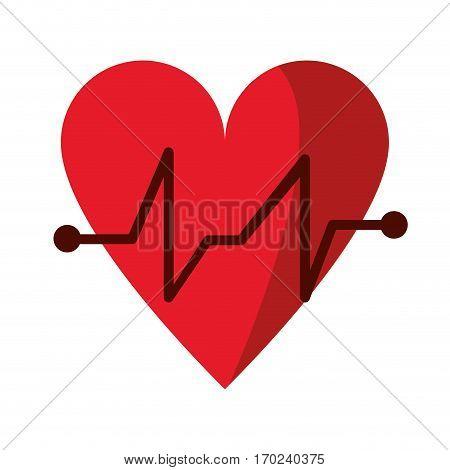 heart beat pulse cardiac medical icon vector illustration eps 10