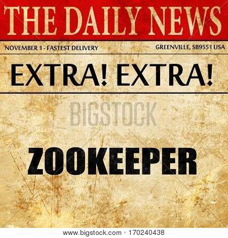 zookeeper, newspaper article text