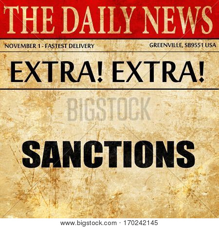 sanctions, newspaper article text