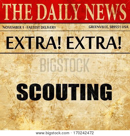 scouting, newspaper article text
