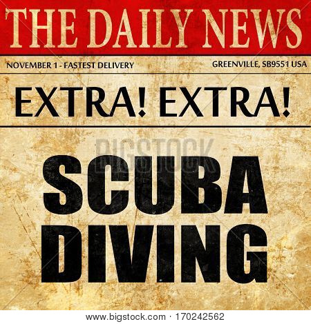 scuba diving, newspaper article text
