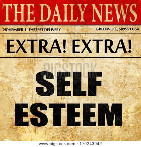 self esteem, newspaper article text