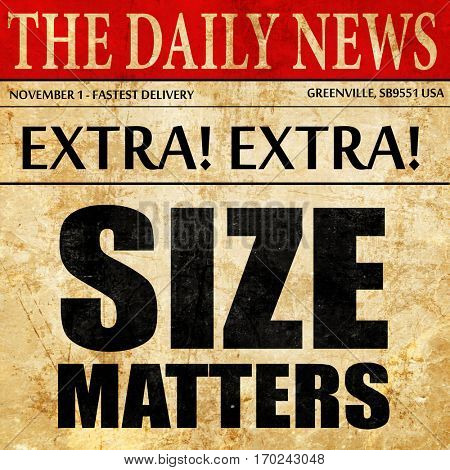 size matters, newspaper article text