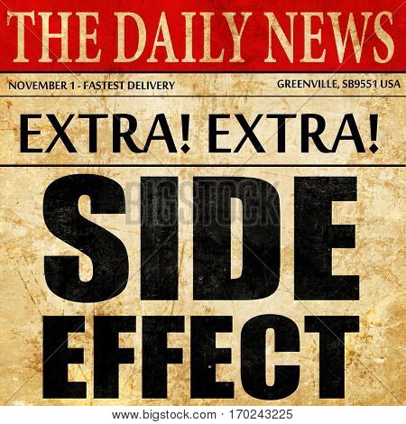 side effect, newspaper article text