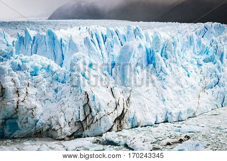 View of the Perito Moreno Glacier in Patagonia Argentina South America