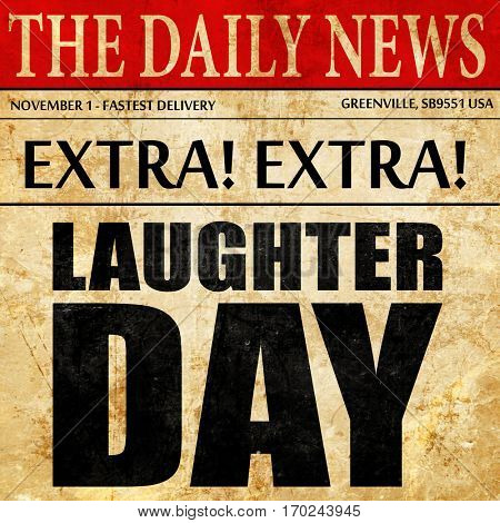 laugher day, newspaper article text