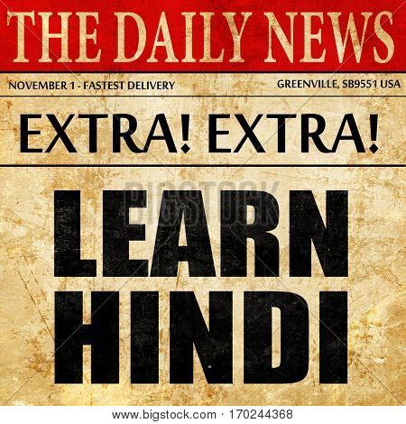 learn hindi, newspaper article text
