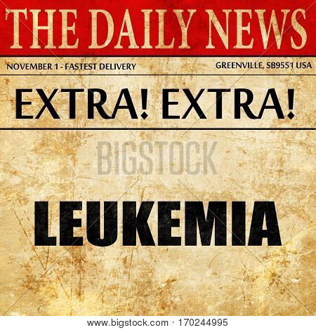 leukemia, newspaper article text