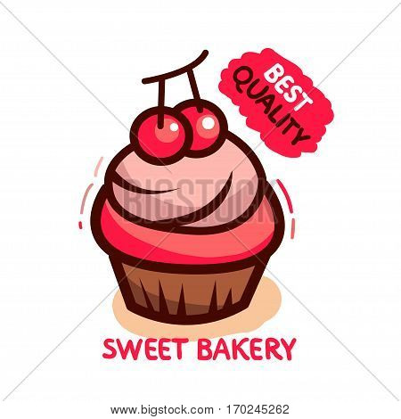 Sweet tasty bakery. Best quality Vector illustration