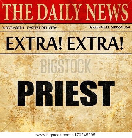 priest, newspaper article text