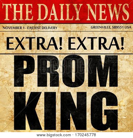 prom king, newspaper article text