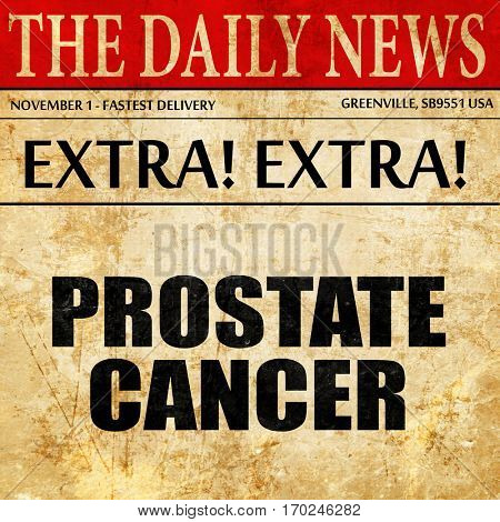 prostate cancer, newspaper article text