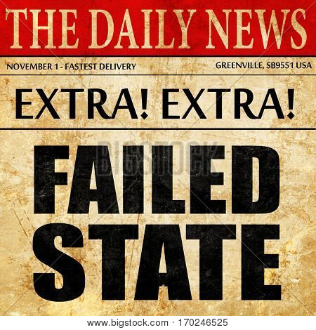 failed state, newspaper article text